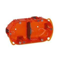 Boitier Encastre MULTIMATERIAUX BATIBOX 2 postes prof 50mm 080122 LEGRAND