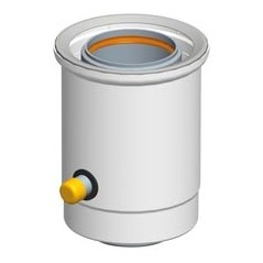 Recuperateur de condensats horizontal D125 80 GAZ REF 224108 UBBINK