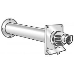 Terminal horizontal condensation 80 125 gaz et fioul ventouse pptl pvc lg 80cm REF 223150 UBBINK