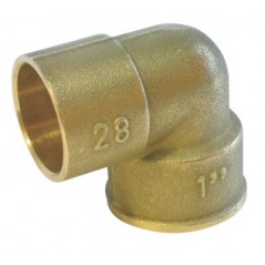 Coude laiton à souder 90 12/17-12 femelle REF 90GC1212 THERMADOR