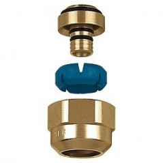 RACCORD DARCAL NICKELE POUR COLLECTEUR DE CHAUFFAGE SERIE STC TUBE PB/PER 3/4-16X20 REF 680420N PBTUB