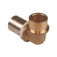 Adaptateur COUDE PER a sertir pour tube cuivre 10x12-14 REF RCAC1214 PBTUB