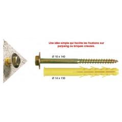 Fixation Chauffe Eau SP/PLACO/PARPAING Kit 4 Tirefonds 16x240 REF A150080 ING FIXATION