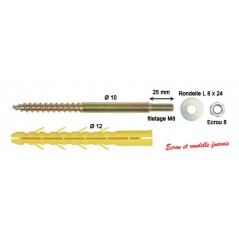 Cheville CHAUDIERE MURALE 12x1300 M8 Sachet de 2 REF A160600 ING FIXATION