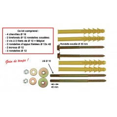 Fixation Chauffe Eau CL/PL 4vis 10x140 REF A500160 ING FIXATION