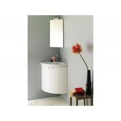 Meuble d'angle POP avec lave mains et armoire d'angle miroir REF 817055+814009 SANIJURA
