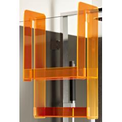 Etagère en plexiglas pour pare-bain et parois fixes orange pop REF E6D070-S38 JACOB DELAFON