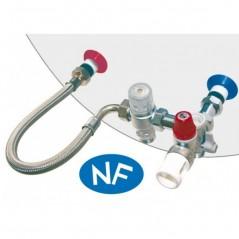 Kit groupe de securité Inox chauffe eau mitigeur 50 degré + flexible THERMADOR / SOMATHERM