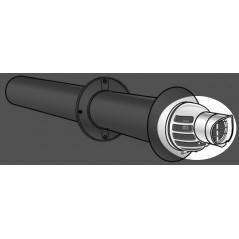 Nez et grille de remplacement pour terminal horizontal condensation 80 125 REF 710876 UBBINK
