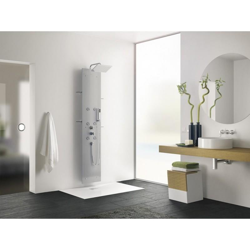 Aquaglass colonnes de douche kinedo - Colonne de douche hydromassante thermostatique ...