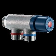 Mitigeur Thermostatique Premix Confort 3/4 Corps Brut pour 2 a 10 Robinets avec Clapet AR REF 733020 DELABIE