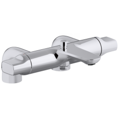 Mitigeur thermostatique bain douche sur gorge ALEO+ REF E72287-CP JACOB DELAFON