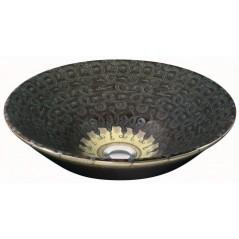 Vasque a poser SERPENTINE BRONZE en ceramique D41.3cm sans trop plein REF