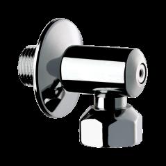 Raccord robinet equerre M 1/2 F1/2 chromé REF 836215 DELABIE