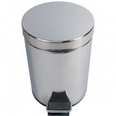 Collecteur a Pedale 5 Litres Inox Miroir ref 899436 JVD