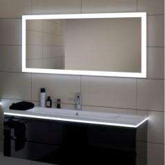 Miroir REFLET LUZ 120cm éclairage et interrupteur infrarouge antibuée réf 904010 SANIJURA