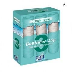 "Cartouche filtre bobine 25µ 9"" 3/4 REF 1726012120 CR2J pack 3"