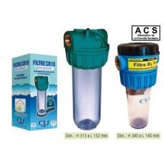 Filtre domestique CR10 3/4 3m3/h nu avec support+clé ref 1611010016 CR2J