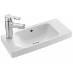 Lave mains Odeon up compact 50x22 percé a gauche REF E4701L-00 blanc JACOB DELAFON