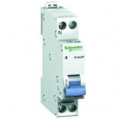 Disjoncteur Duoline XE Embrochable 1P+N 10A REF 16725 SCHNEIDER NF