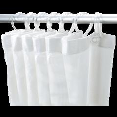 Rideau de Douche Polyester Blanc 1.20x2.00ml REF 1382 DELABIE