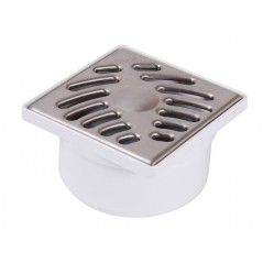 Siphon de Sol Douche Grille Inox 100x100mm Verticale REF SIHJ10I NICOLL
