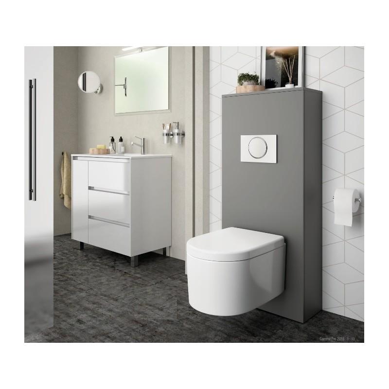 Superbe Habillage WC UNIT Pour WC Suspendu Couleur Gris Mat Réf 25366 SALGAR