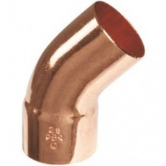 Coude cuivre 45 degré MF Diam 22
