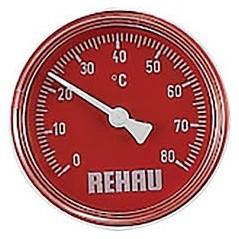 Thermomètre eau chaude pour collecteur REHAU réf 12205801001