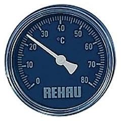 Thermomètre eau froide pour collecteur REHAU réf 12205821001