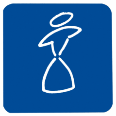 Figurine adhesive dames pvc fond bleu REF 878122 PELLET