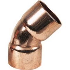 Coude cuivre 45 degré FF Diam 22 REF 504122 THERMADOR