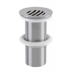 Bonde lavabo chrome brillant clapet fixe recouvrant hauteur 100mm REF 0501078 NICOLL