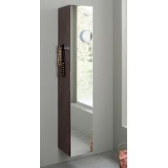 Colonne miroir ELEMENTO 147 x 30 cm 1 porte mélaminée poignée invisible Sanijura