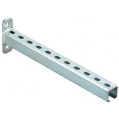 Console rail Acier Zingue 41x21x300mm