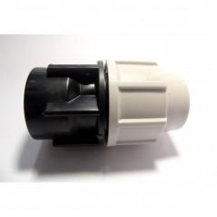 Raccord PE Droit Femelle D63 50/60 PLASTIQUE