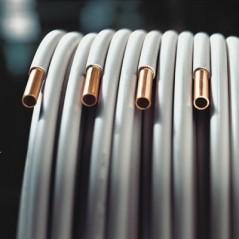 Tube en cuivre recuit gaine wicu 10/12 couronne de 25ml