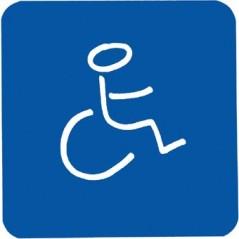 Figurine adhesive handicapes pvc fond bleu REF 878123 PELLET