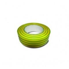 Ruban isolant electrique rlx de 10ml couleur vert/jaune