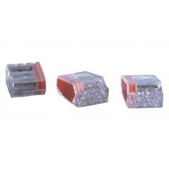 Borne de connexion pour boîte de dérivation 2x 0,5-2,5mm² REF 2273202 WAGO X100PCS