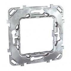 Support metal unica 2 modules MGU7.002 SCHNEIDER