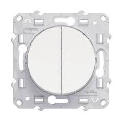 Interrupteur Double Va et Vient ODACE REF S520214 SCHNEIDER