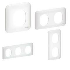 Plaque de finition OVALIS blanc 2 postes vertical 71mm REF S260724 SCHNEIDER