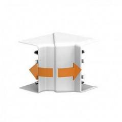 Angle interieur Goulotte OPTILINE 45 PVC 75x55 BLANC POLAIRE REF ISM10101P SCHNEIDER