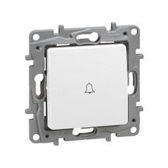 Poussoir simple avec porte etiquette NILOE 6A 250v REF 664715 LEGRAND